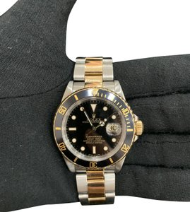 ROLEX ROLEX SUBMARINER GOLD STAINLESS WITH BOX AND APPRAISAL