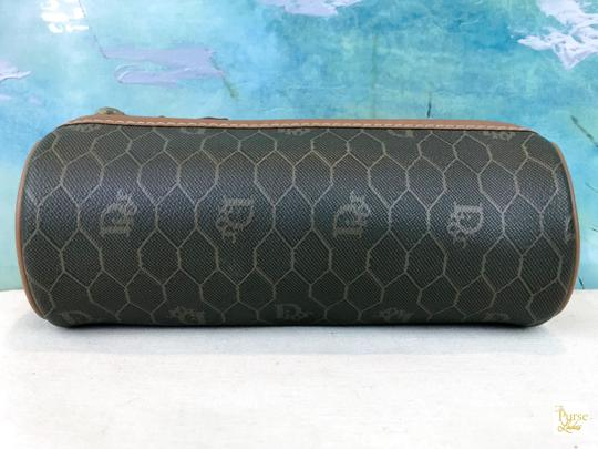 Dior Christian Dior Brown Monogram Coated Canvas Barrel Cosmetic Pouch SALE Image 2
