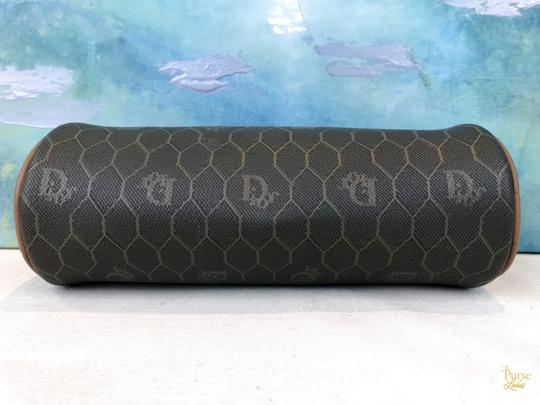 Dior Christian Dior Brown Monogram Coated Canvas Barrel Cosmetic Pouch SALE Image 4