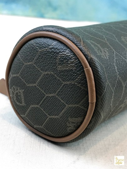 Dior Christian Dior Brown Monogram Coated Canvas Barrel Cosmetic Pouch SALE Image 5