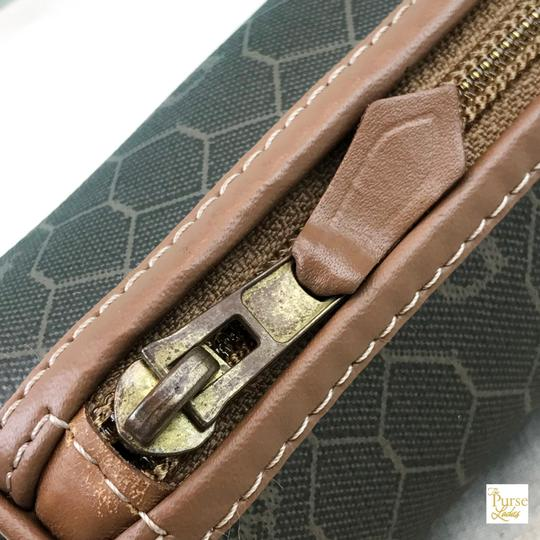 Dior Christian Dior Brown Monogram Coated Canvas Barrel Cosmetic Pouch SALE Image 7