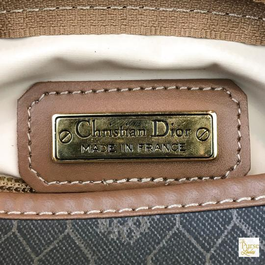Dior Christian Dior Brown Monogram Coated Canvas Barrel Cosmetic Pouch SALE Image 8