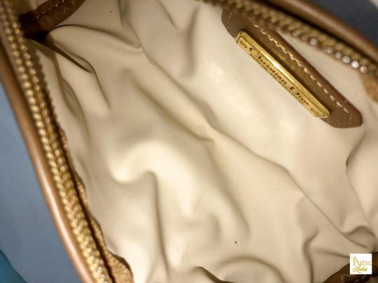 Dior Christian Dior Brown Monogram Coated Canvas Barrel Cosmetic Pouch SALE Image 9