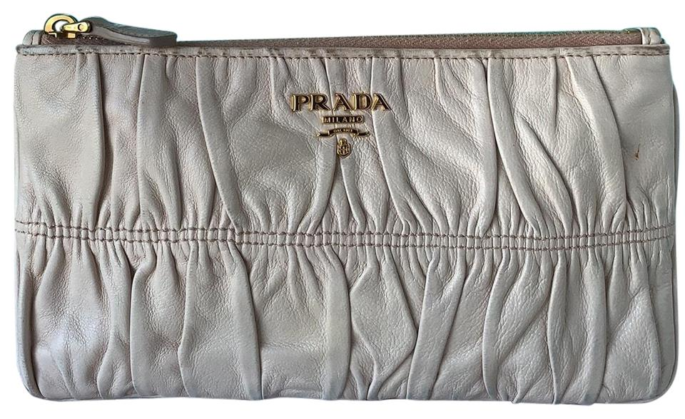 bd8529a3a13b Prada Nappa Gaufre Leather Clutch - Tradesy