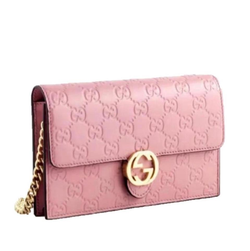 1112c82ef75c Gucci Chain Wallet Icon Gg Pink Leather Cross Body Bag - Tradesy