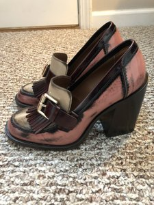 9b5fa9769a67 Mulberry Pink Oxblood Oxford Fringed Pumps Size EU 38 (Approx. US 8 ...