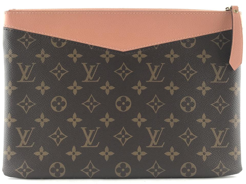 Louis Vuitton Pochette  27547 Rare Daily Pouch Evening Cosmetic Ipad ... 15bf8498dc5f8
