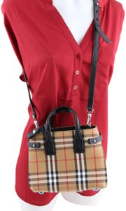 Burberry Vintage Check Baby Banner Multicolor Goat Skin Leather Tote Tradesy