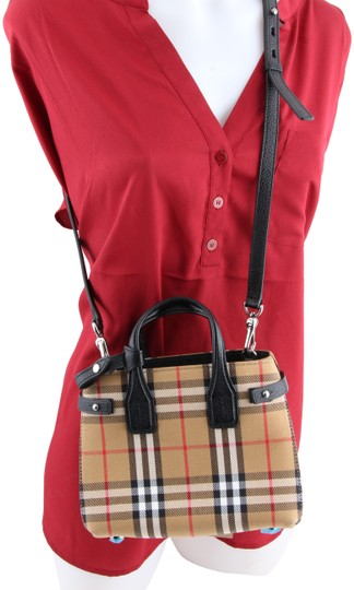 78266e655eb Burberry Vintage Check Baby Banner Multicolor Goat Skin Leather Tote ...