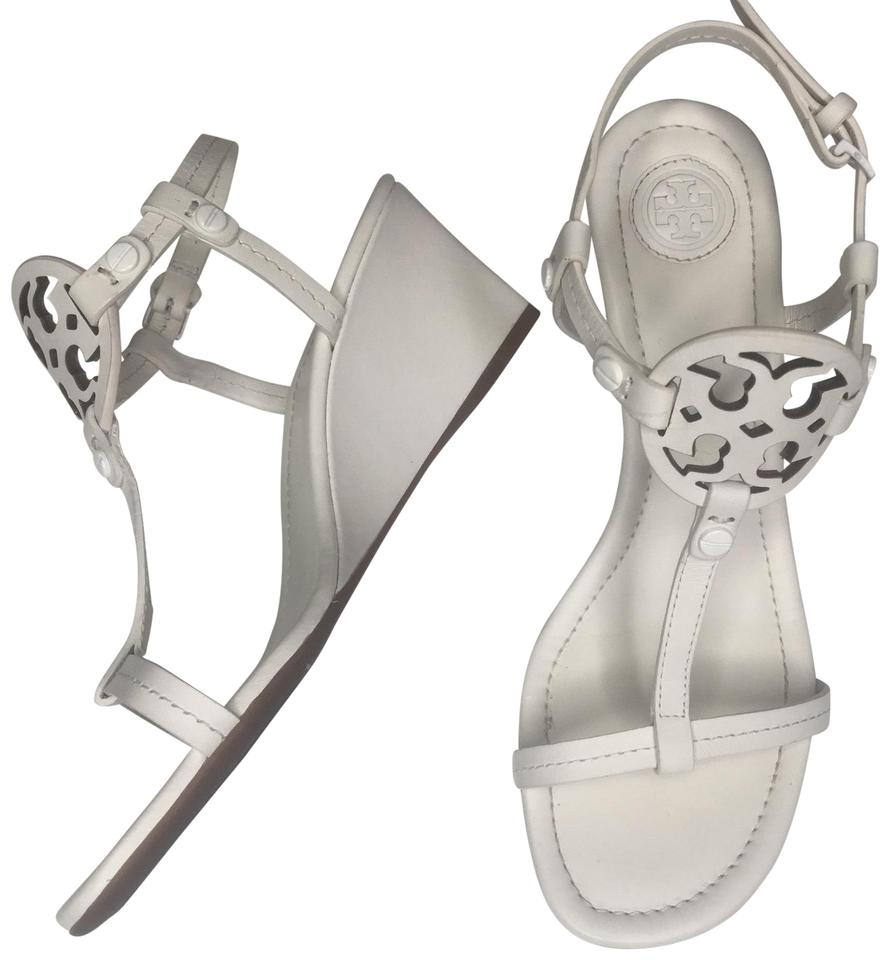 859c4e2c9d8d Tory Burch Off White Miller Wedge Sandals Size US 6 Narrow (Aa