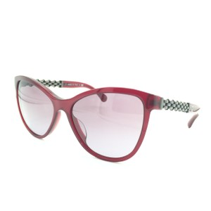19eb51417a1d Chanel Chanel Shiny Red   Silver Chained Cat Eyed Sunglasses 5326-A