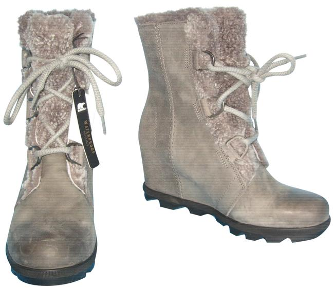 Item - Quarry Gray Women's Joan Of Arctic Wedge Ii Lace Shearling Ankle Boots/Booties Size US 9.5 Regular (M, B)