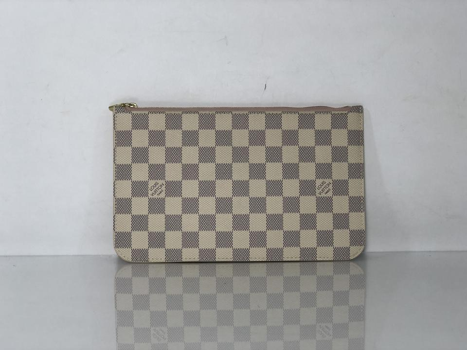 b1d307165b47 Louis Vuitton Lv Neverfull Neverfull Mm Damier Canvas Clutch Wristlet in  White Image 11. 123456789101112