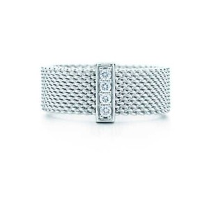 Tiffany & Co. Retired diamond somerset wide band ring