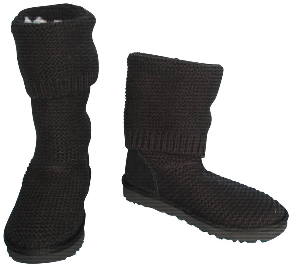 ef459b2298a UGG Australia Black 1094949 Purl Cardy Tall Or Slouch Knit Boots/Booties  Size US 7 Regular (M, B) 30% off retail