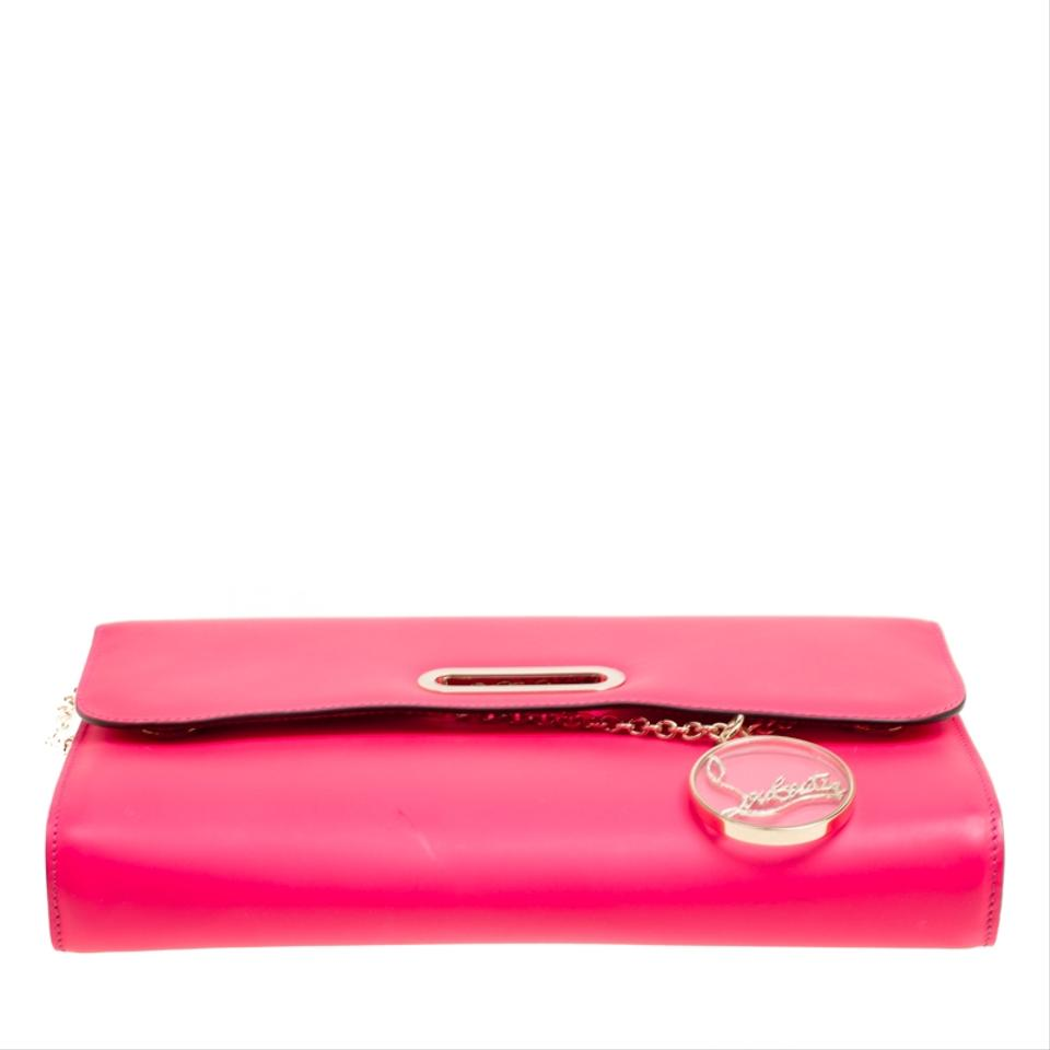 680015888d Christian Louboutin Riviera Fluorescent Pink Leather Clutch - Tradesy