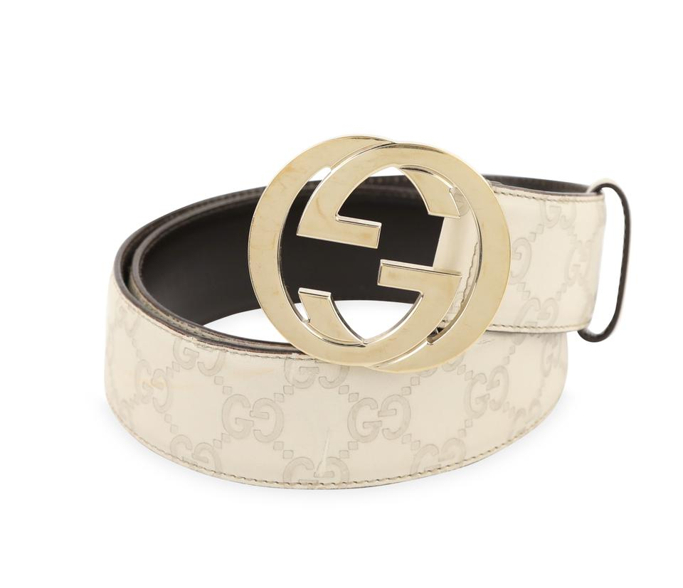 18e24483 Beige Interlocking G Belt