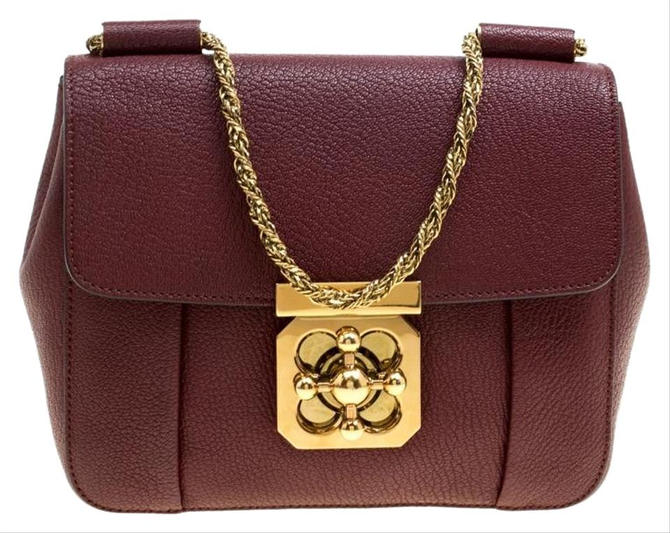 32957439a Chloé Elsie Small Red Leather Shoulder Bag - Tradesy