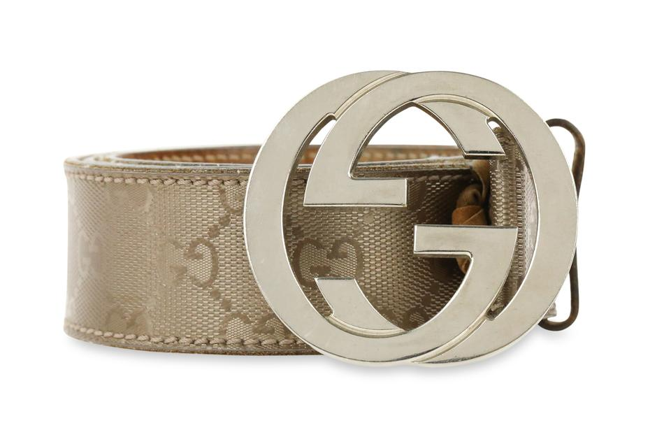 3b063275d55 Gucci Silver Interlocking G Belt - Tradesy