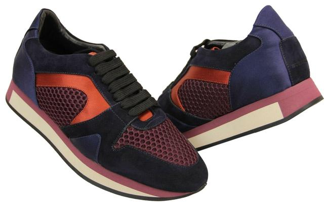 Item - Multicolor The Field Russet Red Suede Mesh Satin Leather Lace Up Sneakers Size EU 38.5 (Approx. US 8.5) Regular (M, B)