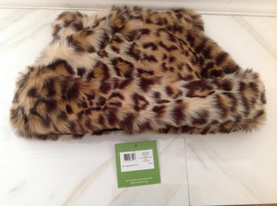 Kate Spade Faux Leopard hat with ears Image 1