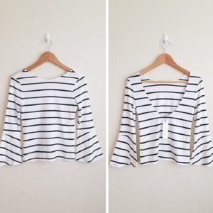 cupcakes and cashmere Top Black and White