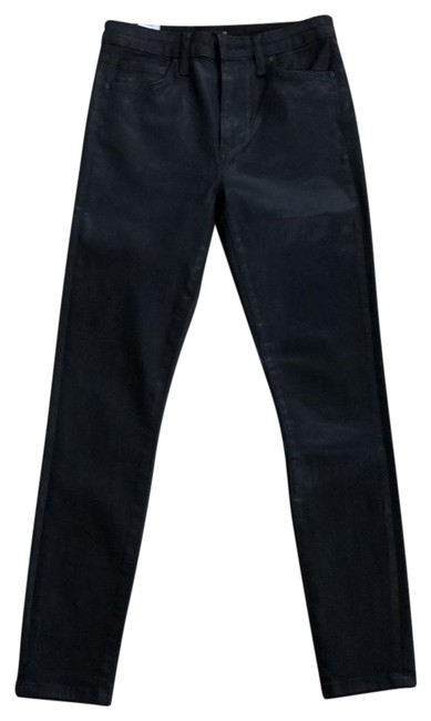 Item - Coated Black High Rise Ankle Skinny Jeans Size 2 (XS, 26)