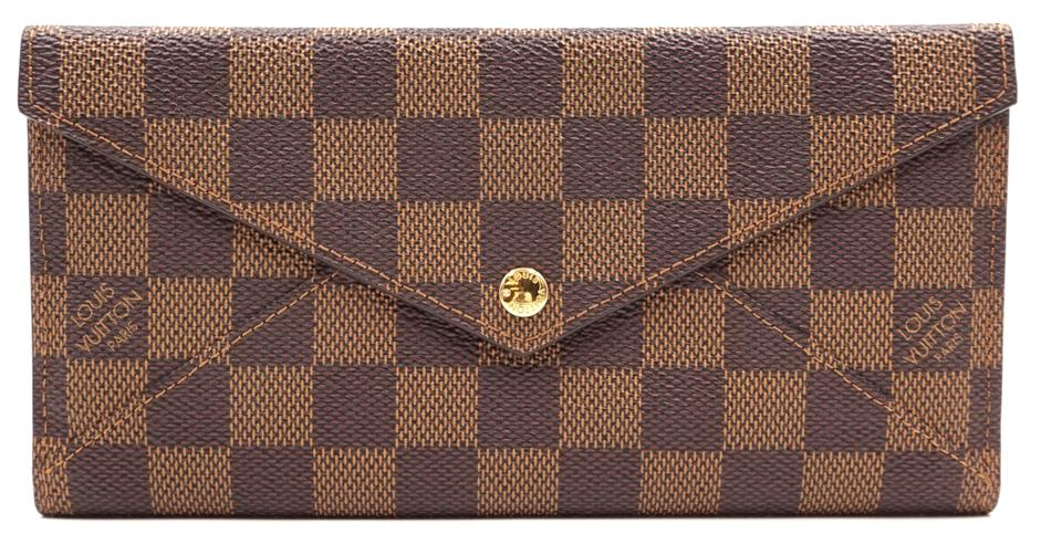 dadd95ae3c7d Louis Vuitton RARE Origami style flap double sided long Wallet organizer ...