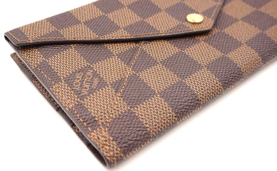 6bc982d0f153 Louis Vuitton RARE Origami style flap double sided long Wallet organizer.  123456789101112