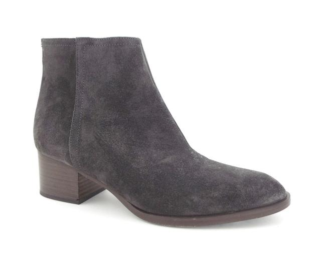 Item - Asphalt Gray Waxed Suede Leather Block-heel Ankle Boots/Booties Size EU 39.5 (Approx. US 9.5) Regular (M, B)