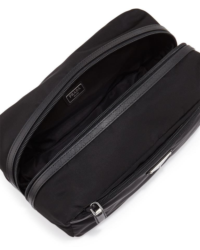 148c5c0b2ee7 Prada Prada Tessuto Nylon Leather Trim Men's Toiletry Travel Case 2NA029  Image 2. 123