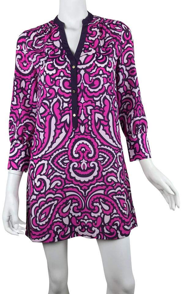860ae99f12fd Juicy Couture Purple Pink Print Tunic Short Casual Dress Size 0 (XS ...