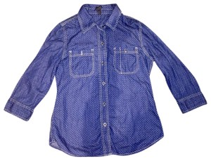 Seven7 Button Down Shirt blue