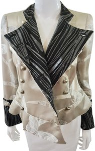 Giorgio Armani Double Breasted Butterfly Gold Blazer