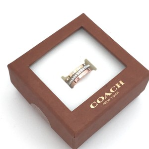 Coach Coach Stackable Pave Logo Ring Set