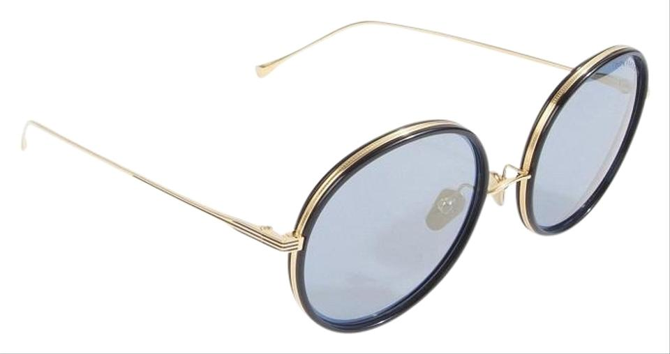 95620883cb8 Dita Navy Blue Eyewear Women s Freebird Round Gold New Sunglasses ...