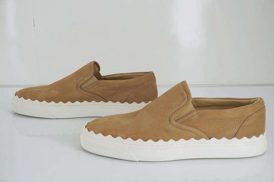 eb95c0b8 Chloé Brown Suede Ivy Waves Scalloped White Rubber Sole Skate Sneakers Size  EU 40 (Approx. US 10) Regular (M, B) 65% off retail