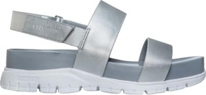 Cole Haan Zero Grand White Silver Sandals