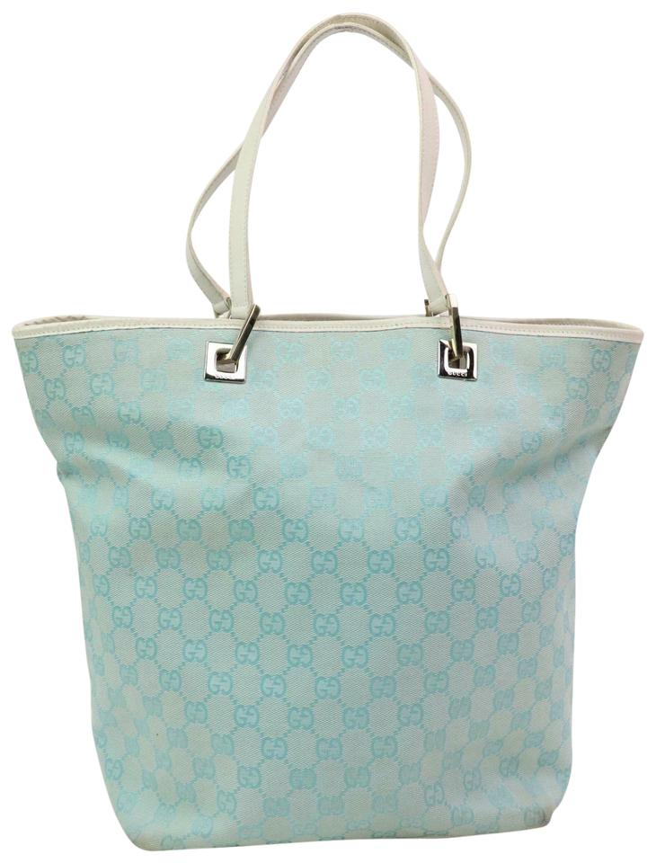 af4411896ed7bd Gucci Eclipse Bucket Shopper Neverfull Gg Tote in Blue Image 0 ...