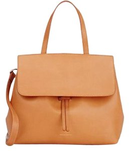 Mansur Gavriel Lady Leather Satchel in CAMMELLO/ROYAL