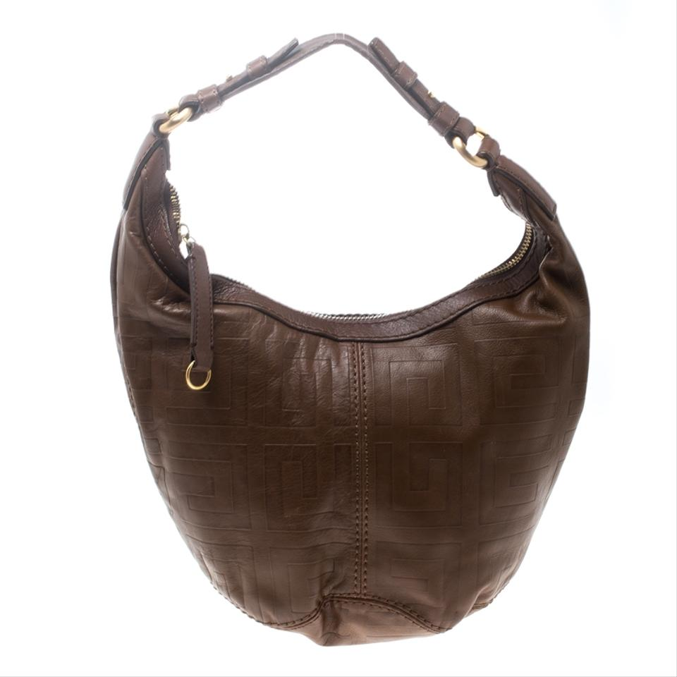 Givenchy Signature Embossed Brown Leather Hobo Bag - Tradesy ff61bbea4ef54