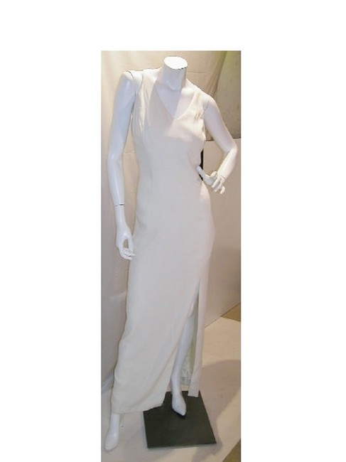 Item - Ivory W 2 Pcs V-neck W/Front Split & Sequin Applicade Walking Jacket Long Night Out Dress Size 16 (XL, Plus 0x)