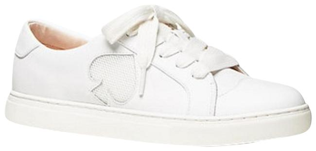 Kate Spade White Fez Low Top Leather