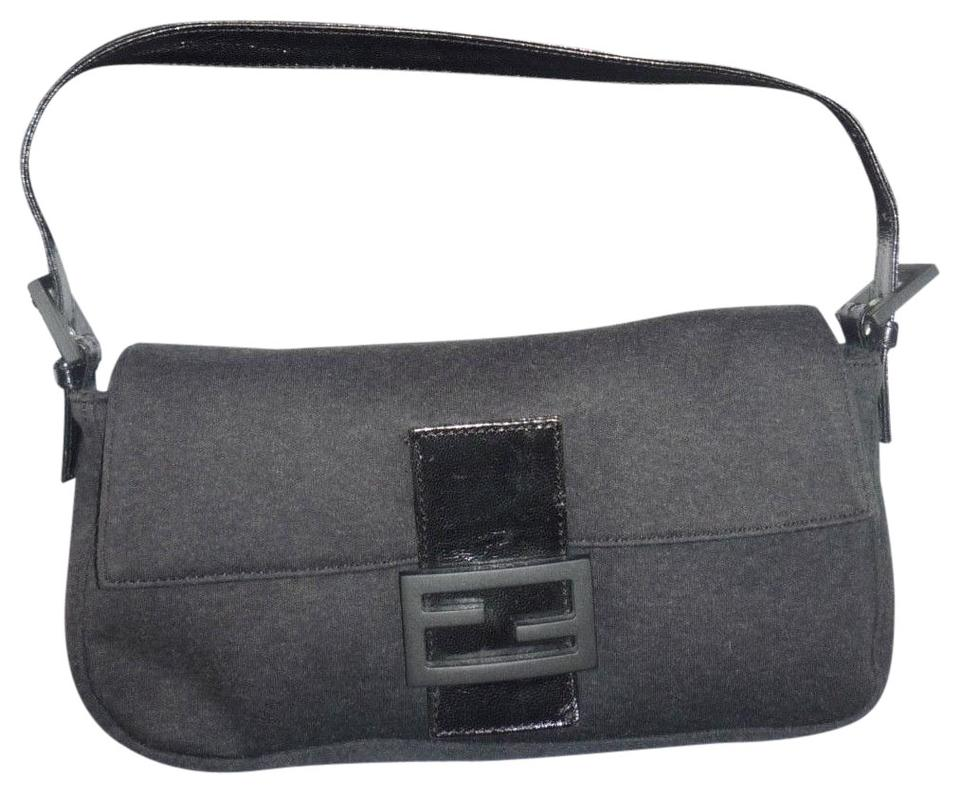 58678a222c39 Fendi Excellent Condition Style Jersey Lthr Resin Edgy Chic Look Baguette  ...