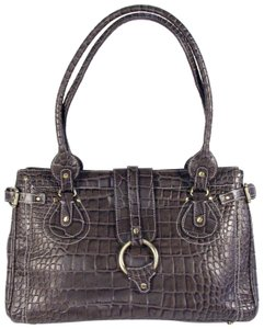 Charlie Lapson Business Brief Leather Tote in Brown