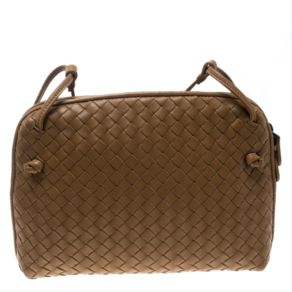 Bottega Veneta Intrecciato Nodini Brown Leather Shoulder Bag - Tradesy e805c0ba21511