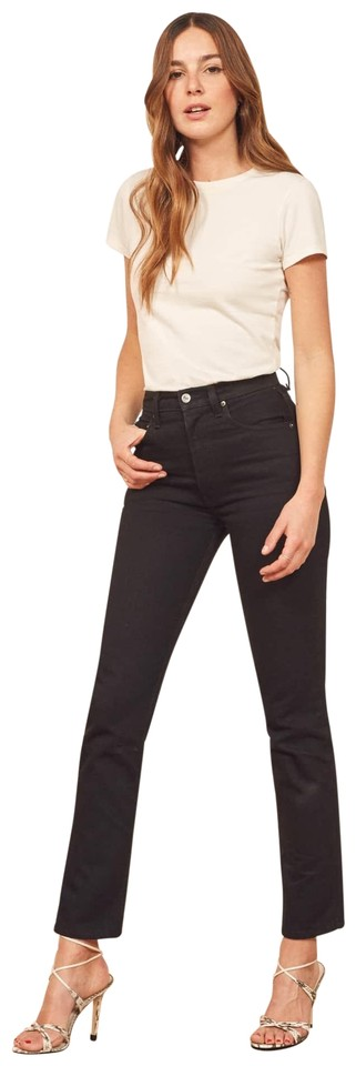 8452e7bc466ea Reformation Black Stevie Ultra High Rise Skinny Jeans Size 25 (2, XS ...
