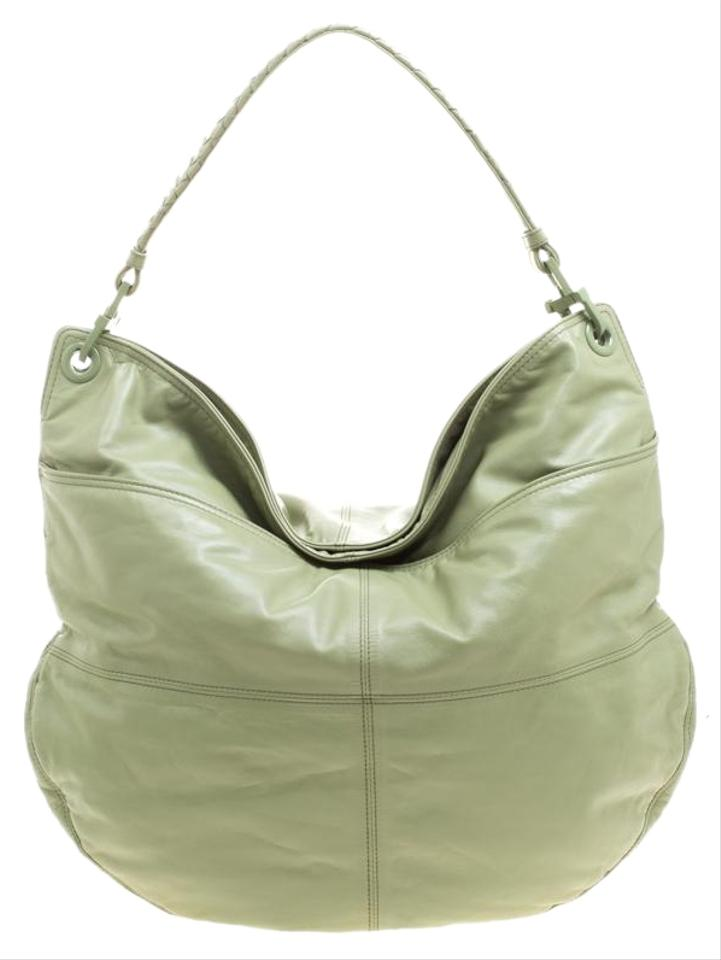 c9d03cd3f8d6 Bottega Veneta Woven Handle Olive Green Leather Hobo Bag - Tradesy