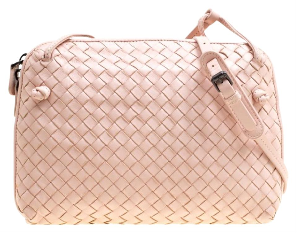 febc4fac8f58 Bottega Veneta Intrecciato Nodini Pink Leather Cross Body Bag - Tradesy