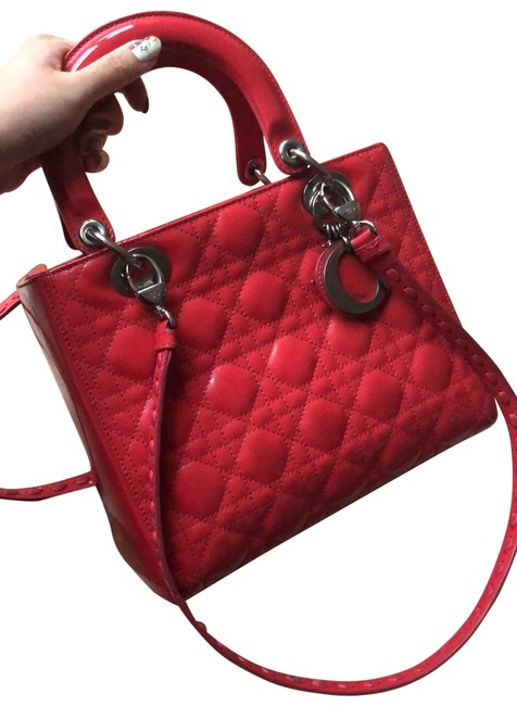 Item - Lady Cannage Medium Limited Edition Double Straps Red Patent Leather Tote